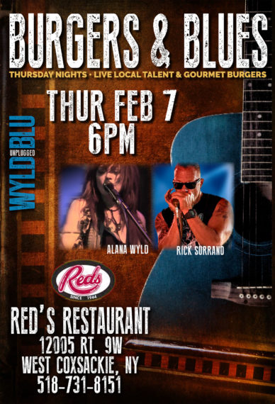 Burgers & Blues @ Red's